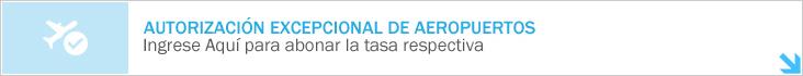 Autorizaci&oacuten Excepcional de Aeropuertos