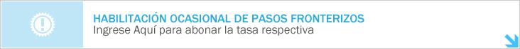 Habilitaci&oacuten Ocasional de Pasos Fronterizos